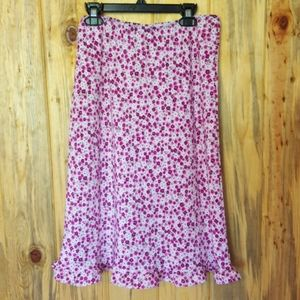 90's ditzy floral midi skirt